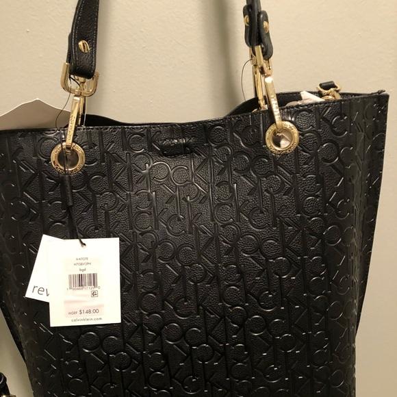 32cbc6bd5 Calvin Klein Bags | Sonoma Reversible Signature Tote | Poshmark